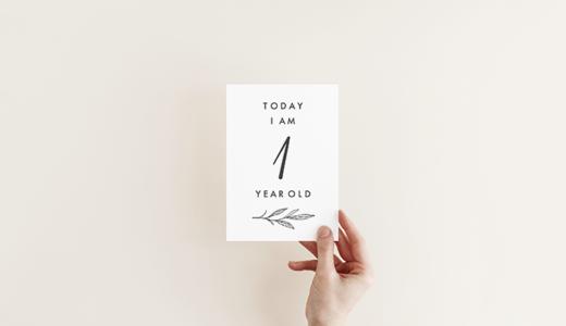男の子も女の子も使える♡月齢カードの無料テンプレート