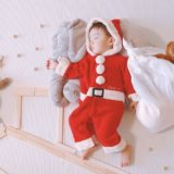 クリスマス寝相アート
