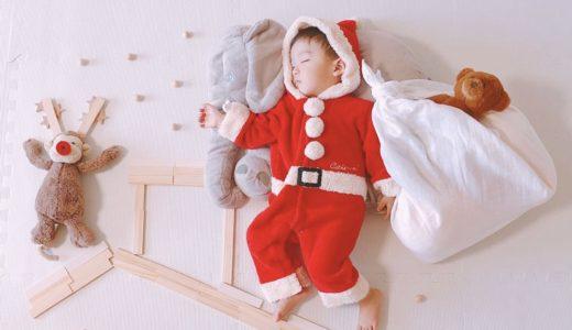 ねんね中にパチリ♡クリスマス寝相アート