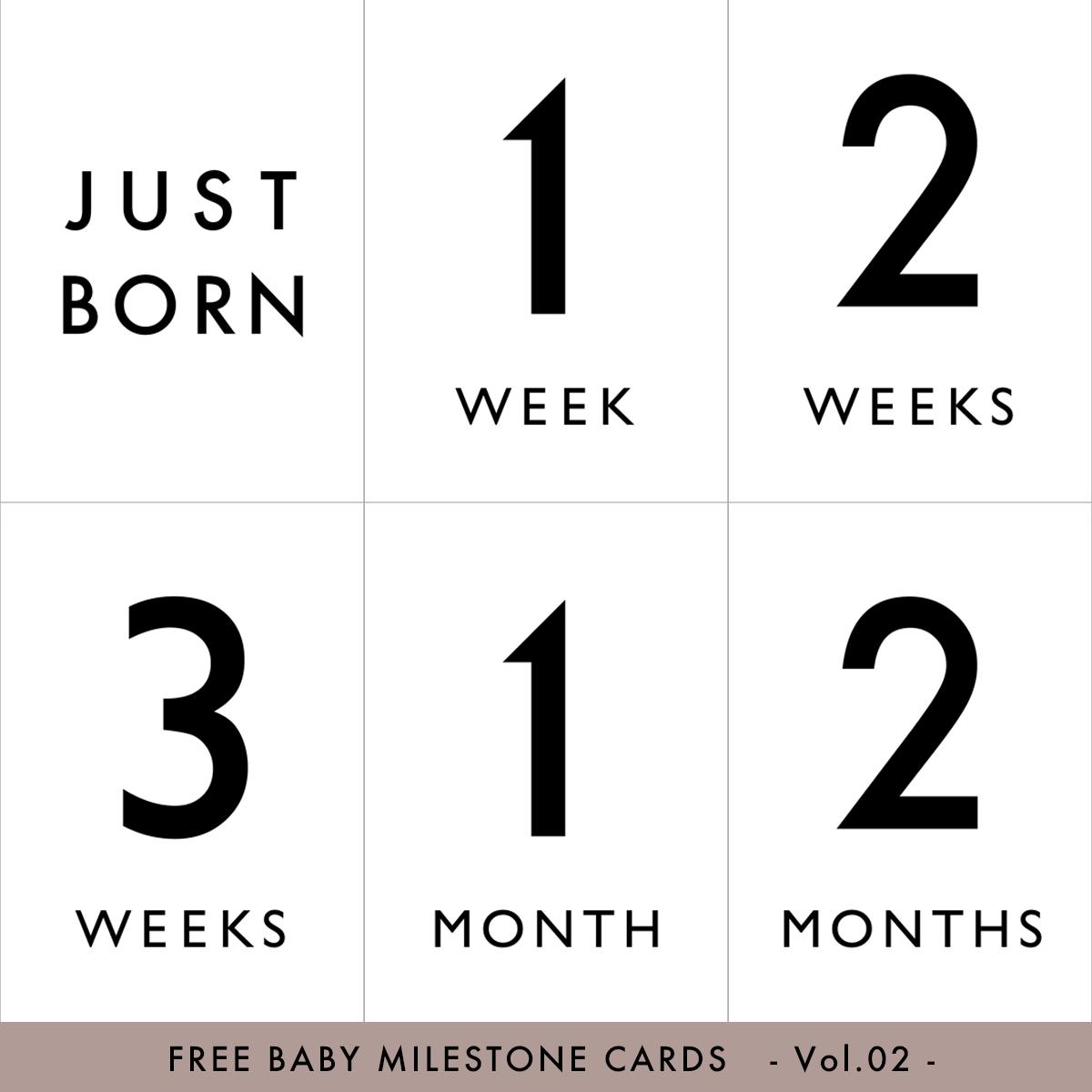 シンプルな月齢カード♡男の子にも女の子にも
